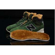 Кроссовки New Balance 996 Утепленные темно зеленые